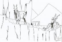 """Desenhos / Alguns desenhos visando """" desenferrujar"""" a mão"""