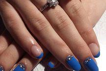 Zdobienia lakierami hybrydowymi / Moje zdobienia wykonane na manicure hybrydowym
