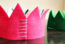 Coronas cumpleaños fieltro/ manualidades