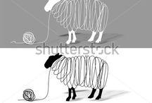 wooly moodboard