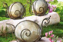 σαλιγκάρια με πέτρα και σύρμα