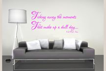 Wall Decal / Wall decoration stickers - easy to apply and look absolutely fantastic on just about any wall in the house!