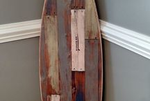 Surfboard wall