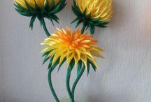 цветы из канзаш