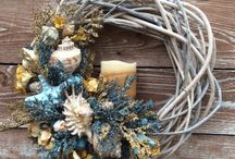 Everything Nice by Florals & Spice / Items from my Etsy shop Florals and Spice including wreaths, florals, home decor, seashell designs, holiday decor