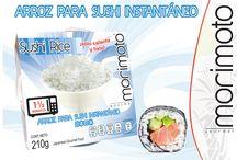 Productos Morimoto / Arroz grano medio, que según sus características de tamaño, manejo y adhesión. Es el tipo de arroz ideal para hacer rollos, conos y niguiris