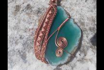 slice Agate pendant