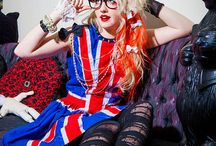 Punky / Union Jack flag dress in a punk inspired outfit modeled by CheshireCat Dress by www.gloomth.com
