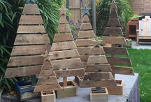 DIY Christmas pallet trees