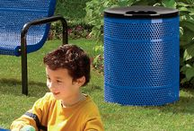 Plastisol Coated Metal Trash Receptacle / A combination of style and durability, plastisol-coated trash receptacles feature the patented Fusion Advantage that allows for unbeatable warranties and unmatched durability.