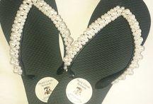Chinelos Customizados / Meus chinelos customizados aceito encomendas.