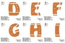 Alphabets / Alphabet Machine Embroidery Designs by Titania Creations.