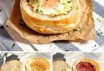 ham egg and chees bread roll