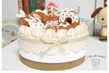torták,sütik,stb filcből