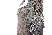 escultura papel