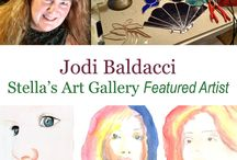 Jodi Baldacci / Jodi Baldacci is a Stella's Art Gallery Artist. Jodi specializes in watercolor and stain glass. You can see more of her work at www.StellasArtGallery.com  If interested in purchasing these pieces email at StellasArts@gmail.com