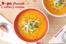 Sopa Cremosa de Lentilhas Vermelhas / Se a cor não for suficiente para vos aquecer, o sabor vai decerto fazê-lo...Vegan, sem glúten, sem gordura adicionada.