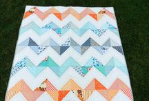 Zig Zag Quilts / Various examples of Zig Zag quilts I found over the Web.