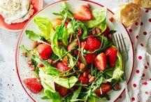 Met aardbeien