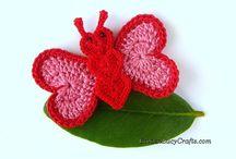 Borboletinhas de crochet