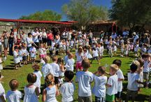 Peace Day at Cave Creek Montessori  / Every year Cave Creek Montessori puts together a peace day event where students come together, make crafts, eat international inspired dishes and learn about historical authors of peace