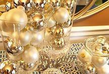 Christmas decor - gold