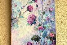 tahta boyama tablolar