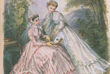 Fashion Plate Finery / Illustrations from 19th Century Magazines depicting the latest Victorian Fashions
