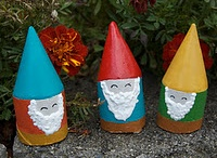 """Oh, gnome, you didn't. / I love gnomes.  Always liked them, but in recent years developed a deep love for all things gnome.  Is it because I need very little """"all things turtle"""" anymore.. dunno.  They are just adorbs.  Cept for the zombie gnome."""