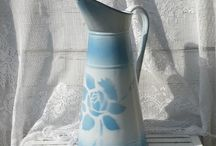 French Enamel Pitcher