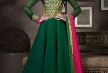 Party Wear Anarkali Dresses / Get the stylish look in parties with our brand new & designer collection of celebrity inspired anarkali dresses. Pick your favorite now from http://www.mishreesaree.com/Online/New-Arrivals/Latest-Salwar-Kameez