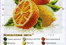 Vyšívání - ovoce, zelenina, houby