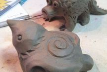 Clay work room / by Colleen Welch