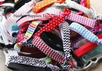 HSE Elastic for Headbands / Your One-Stop Hairbow Supply Shop!  Solid and printed grosgrain ribbon, alligator clips, silk flowers, 60 styles of fold over elastic, glitter elastic, lace elastic, rhinestone buttons, and so much more!   / by Hairbow Supplies, Etc.