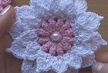 Цветы и элементы крючком