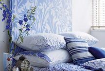 Blue/White - Mediterranean bedrooms