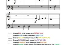 Worksheets for piano beginners / teaching piano
