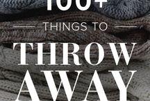throwing things away