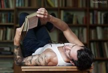 hot guys and reading