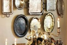 Stunning Silver / I love decorating with silver! Shiny, tarnished, rusty - gimme it all!