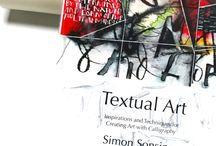 Textual Art Book / Textual Art - Inspirations and techniques for creating art with calligraphy