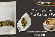 White Paper Bags With Full Rectangle Window