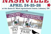 Country Living Magazine Fair Lebanon, Nashville, TN / Our natural products we will be displaying at the fair...including lots of new skin loving goodies. Our buddies and what they have, that are also vending at the fair! And, giveaways leading up to the fair!