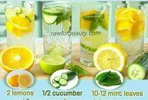 healthy detox water or drinks