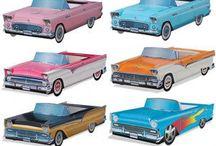 50's theme centerpieces