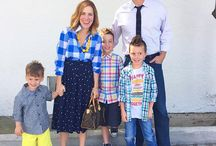 #HollisChurchClothes / Woman shares outfit inspiration for Sunday church clothes plus inspirational message. Also outfit ideas for three boys and husband.