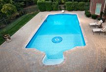 Pavers & Pools / Pavingstone pool aprons and patios with BELGARD pavers