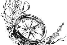 Tattoos Kompass
