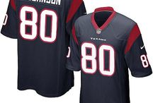 Andre Johnson Nike Jersey – Authentic Elite Texans #80 Blue White Jersey