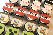 Minecraft Cupcakes, tortas, galletitas